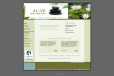 old A.L.I.V.E. Holistic Health Clinic website