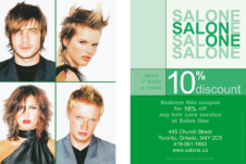 Salon One 10% off-SPRING