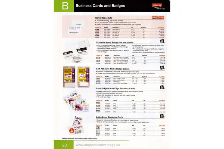 Staples - CATALOG (inside)