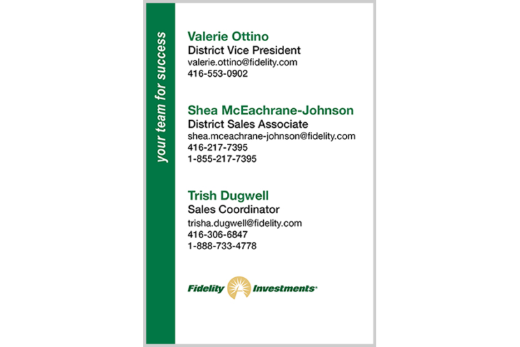 Fidelity Investments - CONTACT CARD