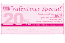 Salon One Coupon