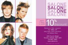 Salon One 10% off-SUMMER